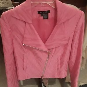 Etcetera zipper sleeves croped jacket Sz 2